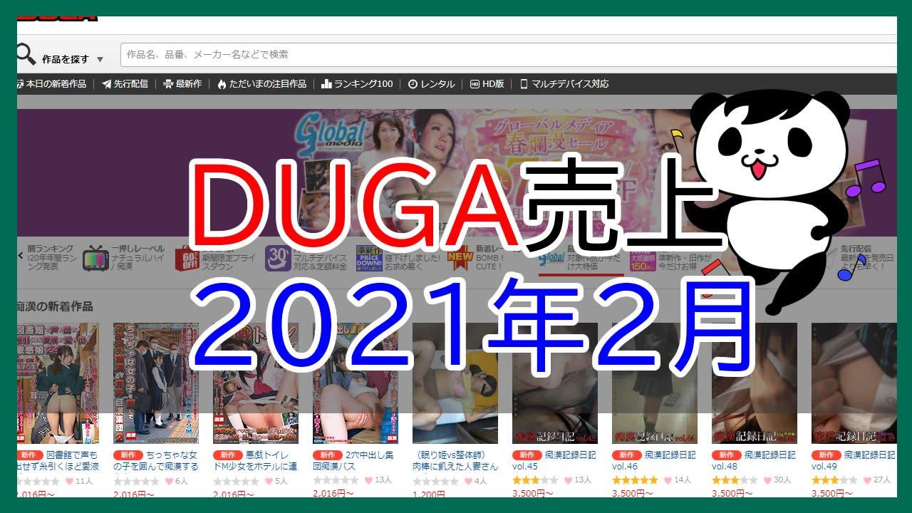 DUGA売上2021年2月